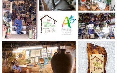 Melchor Tito galardonado en los Premios de Artesanía de Andalucía por su proyecto de La Casa del Alfarero